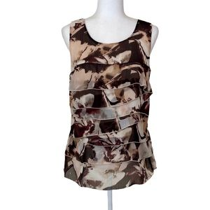 Ann Taylor Factory Floral Ruffle Tiered Top 8